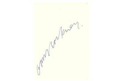 Lot 309-Hockney (David) Blue ink signature of the...