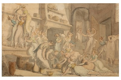 Lot 104-ATTRIBUTED TO THOMAS ROWLANDSON (BRITISH 1756-1827)