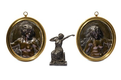Lot 16 - A PAIR OF 19TH CENTURY BRONZE RELIEFS...