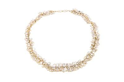 Lot 29 - A moonstone fringe necklace