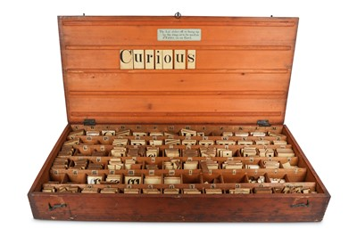 Lot 37-A LATE 19TH CENTURY BOXED ALPHABET SET / TEACHING ...