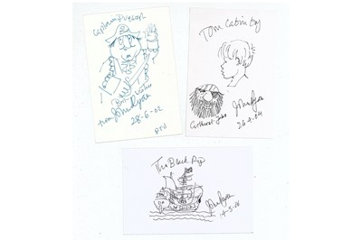 Lot 315-Ryan (John) Three cards signed and dated by...