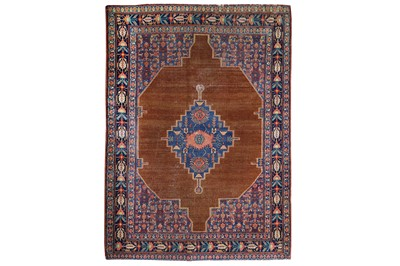 Lot 19-AN ANTIQUE SENNEH RUG, WEST PERSIA approx: 6ft....