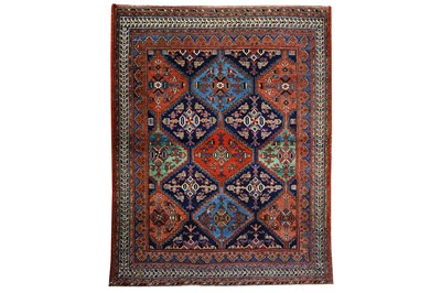 Lot 5-AN ANTIQUE AFSHAR RUG, SOUTH-WEST PERSIA...