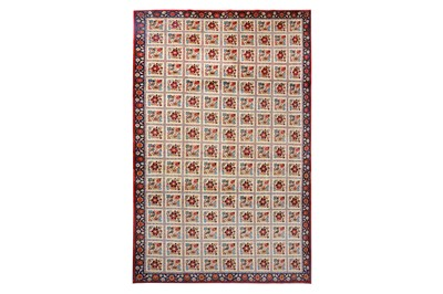 Lot 40-A FINE ISFAHAN CARPET OF GARDEN DESIGN, CENTRAL...