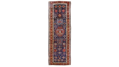 Lot 25-AN ANTIQUE SHAHSAVAN RUNNER,NORTH-WEST PERSIA...