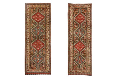 Lot 32-AN ANTIQUE PAIR OF HAMSEH LONG RUGS, SOUTH-WEST...