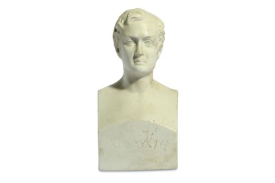 Lot 32-A BISQUE PORCELAIN BUST OF LORD BYRON England,...