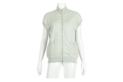 Lot 3-Chanel Pale Green Cardigan - size 44
