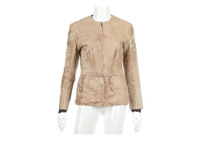 Lot 26-Tom Ford Gucci Golden Sheared Persian Lamb Jacket