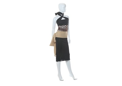Lot 12-Jean Paul Gaultier Femme Black and Nude Dress - size 38