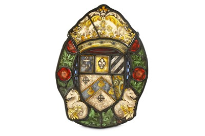 Lot 77-A 19thCentury Continental heraldic stained glass ...