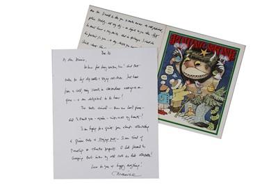 Lot 318-Sendak (Maurice) Autograph letter signed...
