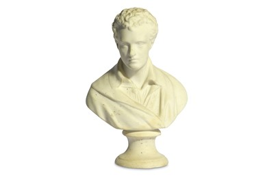 Lot 21-A WHITE BISQUE PORCELAIN BUST OF BYRON England,...