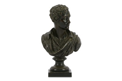 Lot 22-A VICTORIAN PATINATED SPELTER BUST OF LORD BYRON...