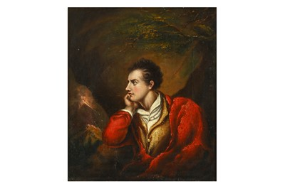 Lot 30-A PORTRAIT OF LORD BYRON England, 19th century,...