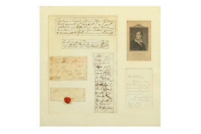 Lot 24-AN ENVELOPE WITH BYRON'S SIGNATURE AND PERSONAL...
