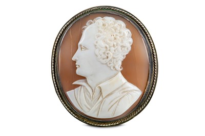 Lot 42-A SILVER MOUNTED CARVED SHELL CAMEO BROOCH...