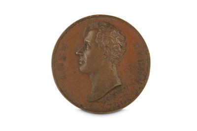 Lot 5-A COMMEMORATIVE BRONZE MEDALLION FOR LORD BYRON...
