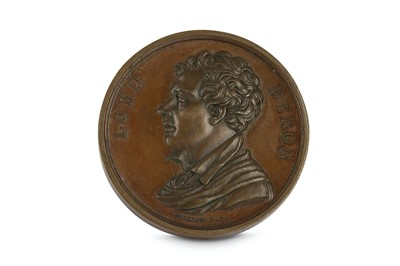 Lot 6-A COMMEMORATIVE BRONZE MEDALLION FOR LORD BYRON...