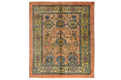 Lot 21-FINE CARPET OF MAHAL DESIGN approx: 6ft.10in. x...