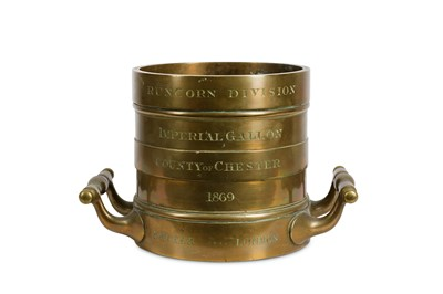 Lot 5-A 19TH CENTURY BRONZE IMPERIAL GALLON MEASURE FOR ...