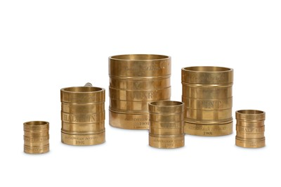 Lot 4-A SET OF EARLY 20TH CENTURY BRONZE MEASURES FOR...