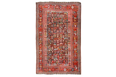 Lot 6-AN ANTIQUE HAMSEH RUG, SOUTH-WEST PERSIA approx:...