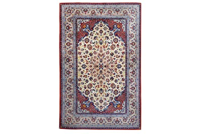 Lot 41-AN EXTREMELY FINE ISFAHAN RUG, CENTRAL PERSIA...