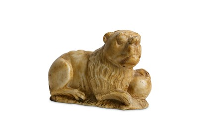 Lot 1 - A 15TH CENTURY GOTHIC CARVED ALABASTER MODEL...