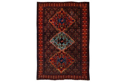 Lot 9-A FINE ANTIQUE SENNEH RUG, WEST PERSIA approx:...