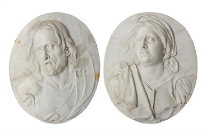 Lot 9 - A PAIR OF ITALIAN 18TH CENTURY MARBLE RELIEFS...