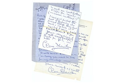 Lot 319-Sheridan (Clare) Small group of autograph letters ...