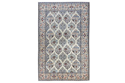 Lot 30-AN EXTREMEY FINE PART SILK NAIN RUG, CENTRAL...