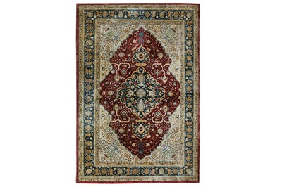 Lot 17-AN EXTREMELY FINE SILK CHINESE RUG approx; 6ft....