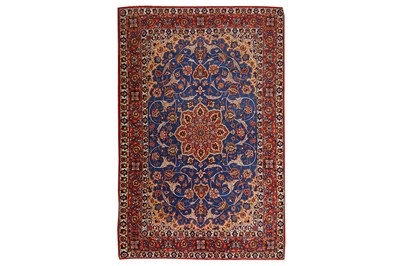 Lot 46-A VERY FINE PART SILK ISFAHAN RUG, CENTRAL...