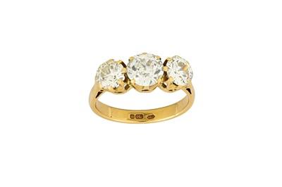 Lot 45-A diamond three-stone ring Set with three...