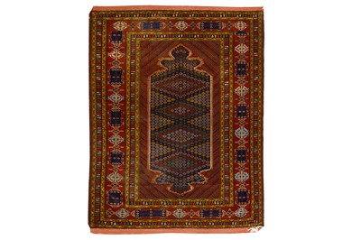 Lot 32-AN EXTREMELY FINE MESHED RUG, NORTH-EAST...