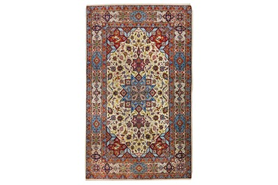 Lot 27-AN EXTREMELY FINE PART SILK ISFAHAN RUG,...