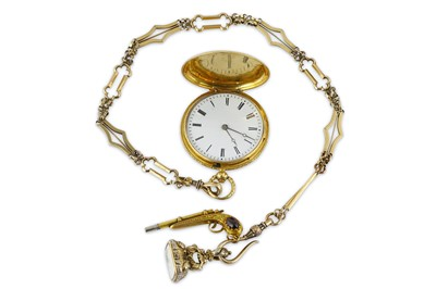 Lot 45-A GOLD FULL HUNTER POCKET WATCH WITH LORD BYRON'S ...