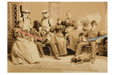 Lot 407-Mr Brainwash (French, b.1966) 'Star Wars Family'...