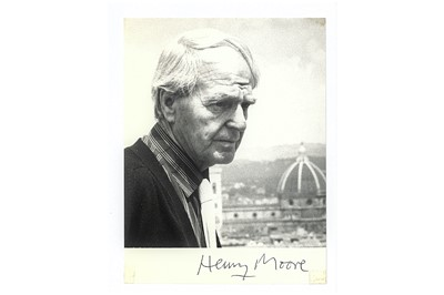 Lot 311-Moore (Henry) Black and white postcard...