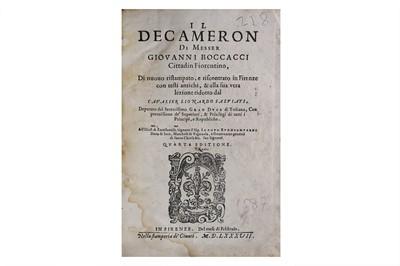 Lot 7-Boccaccio (Giovanni) Decamerone, fourth...
