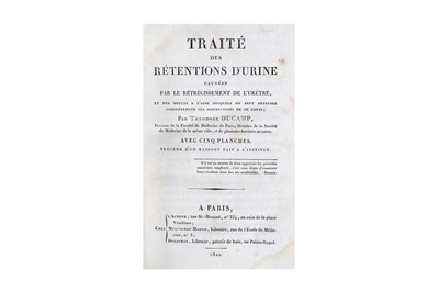 Lot 15-Ducamp (Theodore) Traité des Rétentions d'Urine,...