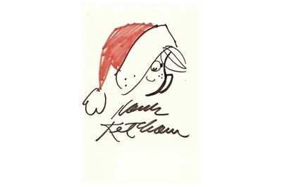 Lot 310-Ketcham (Hank) Black and red ink sketch of...