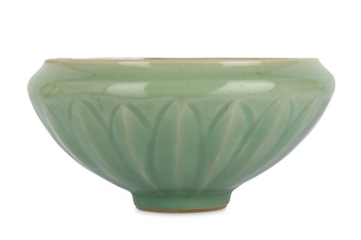 Lot 39-A CHINESE CELADON GLAZED BOWL. Song Dynasty....