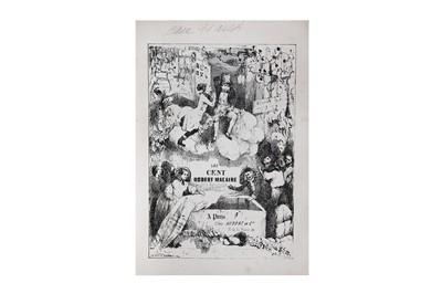 Lot 10-Caricatures.- Daumier (Honoré) Les Cent Robert-...