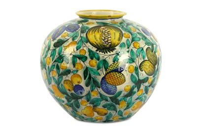 Lot 79-An Italian Cantagalli Maiolica globular vase with ...