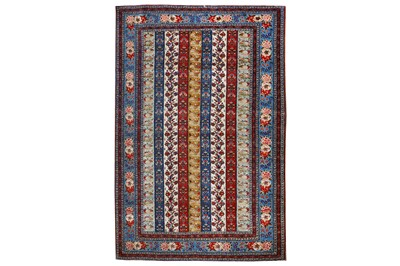 Lot 11-A VERY FINE PART SILK QUM RUG, CENTRAL PERSIA...
