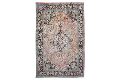 Lot 39-A FINE SILK INDIAN CARPET approx: 12ft.1in. x 8ft....